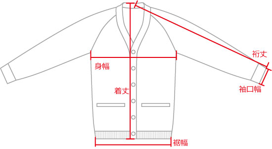 ギャングセーター 当店での測り方