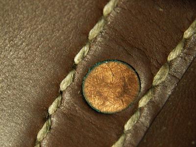 メールバッグ 銅リベット