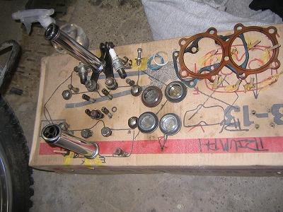 トライアンフTR6 エンジン