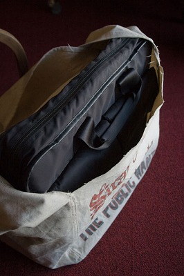 Newspaper Bag 使用例 (PCバッグ編)