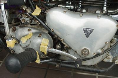 1957 Triumph TR6 キック・リターンスプリング