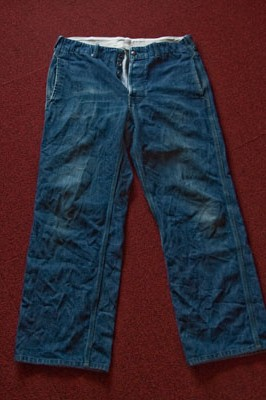 経年変化 INDUSTRIAL WORK PANTS BLUE DENIM編 その2