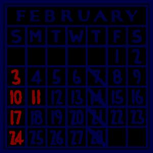 カレンダー:2019/02