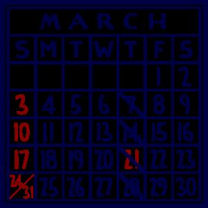 カレンダー:2019/03