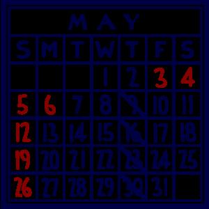 カレンダー:2019/05
