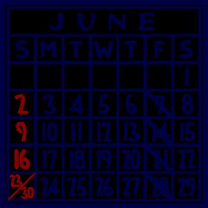 カレンダー:2019/06