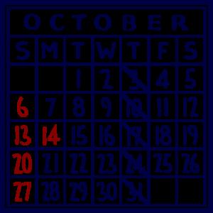 カレンダー:2019/10