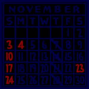 カレンダー:2019/11
