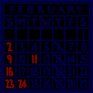 カレンダー:2020/02
