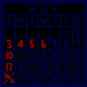 カレンダー:2020/05