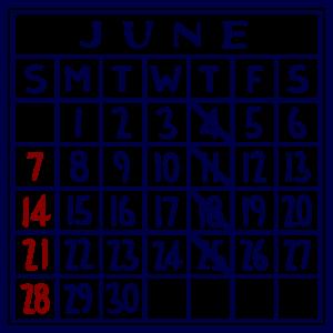カレンダー:2020/06
