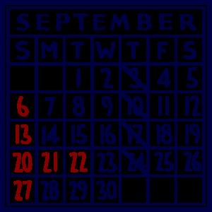 カレンダー:2020/09