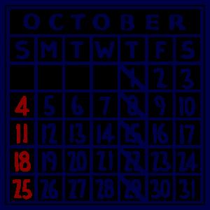 カレンダー:2020/10