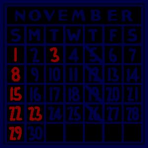 カレンダー:2020/11