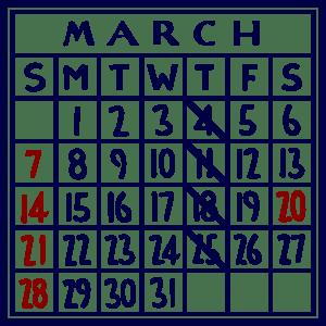 カレンダー:2021/03