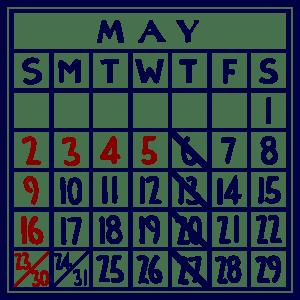 カレンダー:2021/05