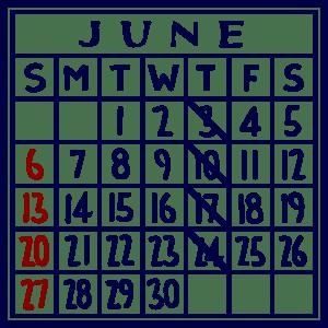 カレンダー:2021/06
