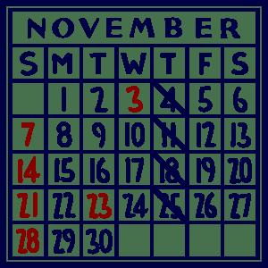 カレンダー:2021/11