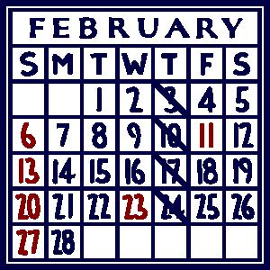 カレンダー:2022/02