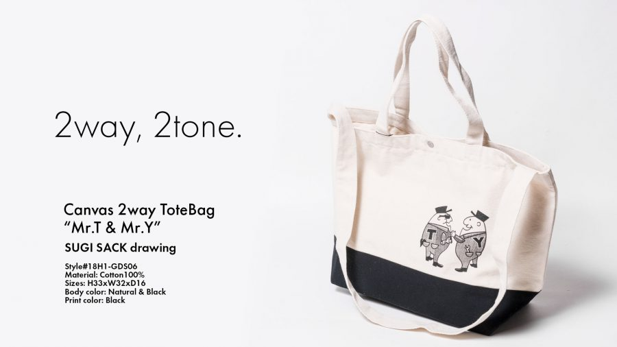Canvas 2way ToteBag Mr.T&Mr.Y