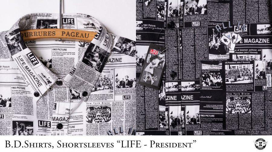 B.D.Shirts Shortsleeves LIFE President