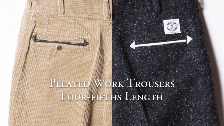 Pleated Work Trousers 4/5 Length