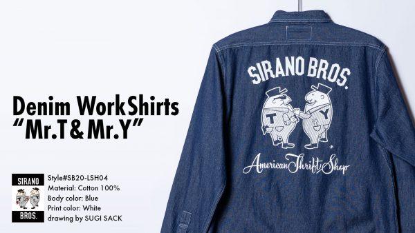 Denim WorkShirts Mr.T&Mr.Y
