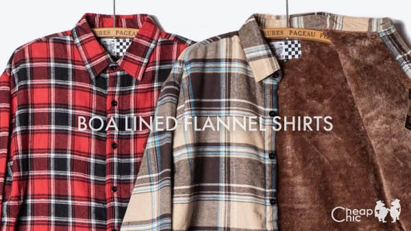 BOA LINED FLANNEL SHIRTS